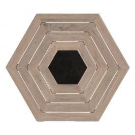 Hartman Hexagon-Tischplatte 160x160 cm Teak Light Grey