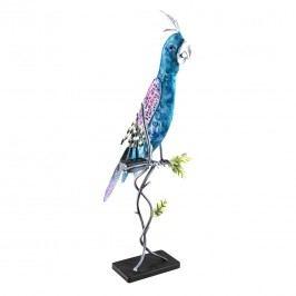 OUTLIV. Papagei Solarleuchte 22x20x63cm Metall Blau/Silber