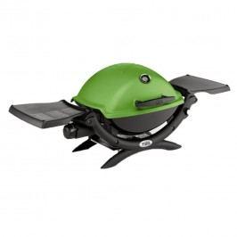 Weber Gasgrill Q 1200, Green mit Seitentischen