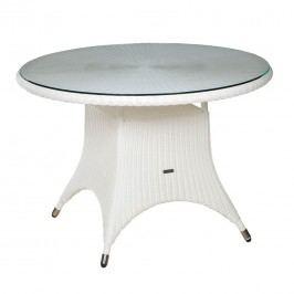 Zebra Hastings Tisch Ř110 cm Geflecht /Glas Snow White