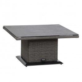 Siena Garden Porto Lifttisch 90x90cm Geflecht/Spraystone  Mixed Grey/Anthrazit