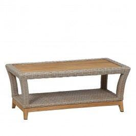 Siena Garden Almada Loungetisch 110x60 Teak/Geflecht  Oak-Grey
