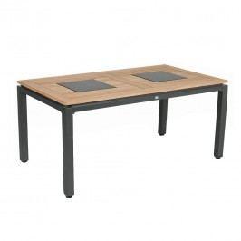 Hartman Concept Tisch 180x100cm Aluminium/Teak mit Graniteinlage Anthrazit/Teak Natur