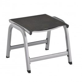 Kettler Easy Hocker Aluminium/Textilene Silber/Anthrazit