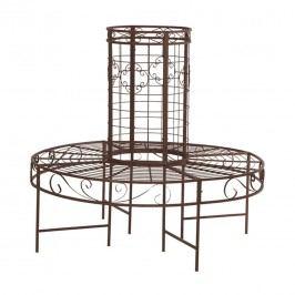Siena Garden Baumbank 121x121x112cm Metall Rostbraun