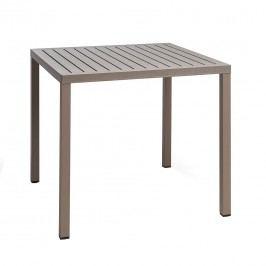 Nardi Cube Tisch 80x80 cm Aluminium/Kunststoff Taupe/Taupe