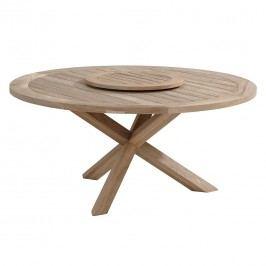 4Seasons Taste Louvre Tisch mit Drehteller Teak Instant Grey