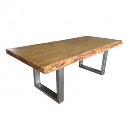 OUTLIV. Rustic Tisch 250x90-100cm Edelstahl/Balau-Holz Teaklook