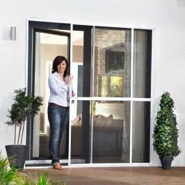 Hecht Insektenschutz Doppelschiebetür, 230x240, weiß, Aluminium/Fiberglas Weiß