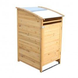 Habau Mülltonnenbox 120 Liter Spießtanne/Blech Braun