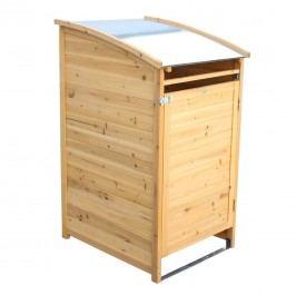 Habau Mülltonnenbox 240 Liter Spießtanne/Blech Braun
