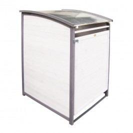 Habau Mülltonnenbox 240 Liter Holz/Blech Weiß/Grau