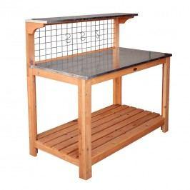 Habau Gartentisch/Pflanztisch 101x55 cm mit verzinkter Arbeitsplatte Braun