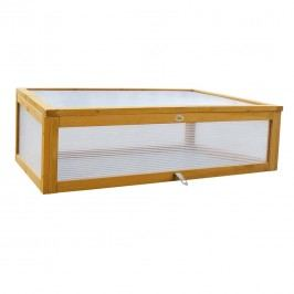Habau Aufsatz für Hochbeet Holz/Kunststoffglas Braun