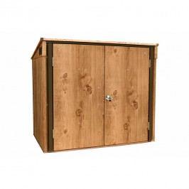 tepro Mülltonnenbox 2x 240 l Stahlblech Eiche/Braun