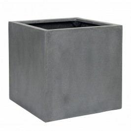 Pottery Pots Block Pflanztopf 40cm Fiberstone Grey