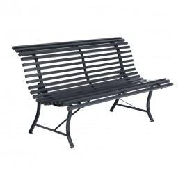 Fermob Louisiane 3-Sitzerbank 150cm Stahl Anthrazit