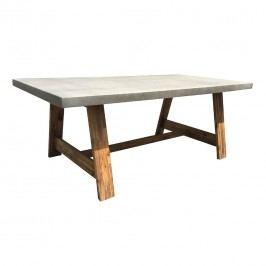 OUTLIV. Avarua Gartentisch 200x100cm Akazie/Zementgemisch White Wash/Light Grey