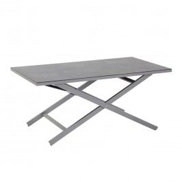 Hartman Cannes Klapptisch 138x80cm Aluminium/HPL Seal Grey/Grey Stone