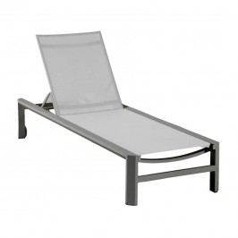 Hartman Cannes Gartenliege Aluminium/Textilene Anthrazit/Weiß