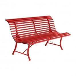 Fermob Louisiane 3-Sitzerbank 150cm Stahl Chili