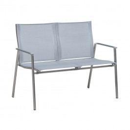 OUTLIV. Bilbao 2-Sitzerbank 120cm Edelstahl/Batyline Silber