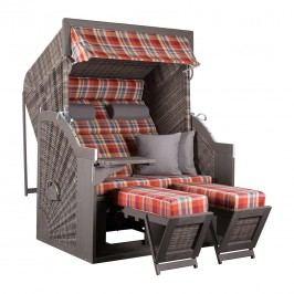 deVries Pure® Strandkorb Comfort XL Halblieger 429 Grau