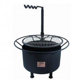 Joes BBQ Campfire Feuerstelle mit Grillrost 70x85cm Schwarz