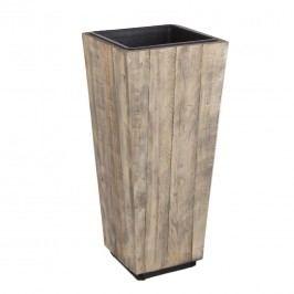 Bizzotto Rica Pflanzkübel 33,5x33,5x75cm Holz Recycelt