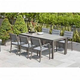 LifestyleGarden Solana Sitzgruppe 7tlg Aluminium/Textilene Grau/Grau