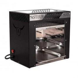 Asteus Willy 800 Grad Elektro Infrarotgrill Schwarz