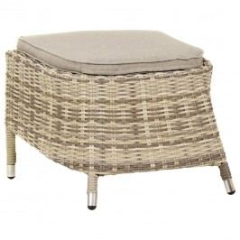 Ploß Sahara Hocker Geflecht Beige-Grau-Meliert/Light Grey