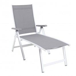 MWH Elements Klappliege Komfort Aluminium/Textilene Weiß/Anthrazit