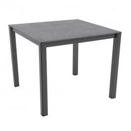 MWH Elements Gartentisch 90x90 cm Aluminium/Creatop-Basic Eisengrau/Grau Granite