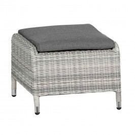 Siena Garden Cando Hocker Geflecht Ice Grey