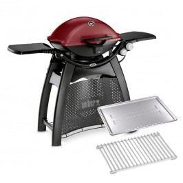 Weber Gasgrill  Q 3200 Set inkl. gratis Hitzeschild und Bratenrost Maroon