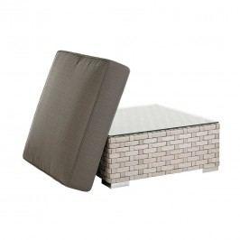 Diamond Garden Toulouse Hocker/Tisch Aluminium/Geflecht/Glas White Shell/Anthrazit
