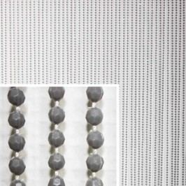 Fun Star Perlenvorhang 200x10cm Grau