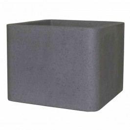 PP-Plastic Cube 29x29x23cm Polyethylen Zementgrau