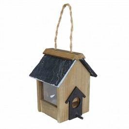 Gardman Holz-Samenfuttersäule für Vögel 19x15x13cm Holz Natur/Schwarz