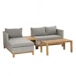 Siena Garden Ohio Lounge-Set 4-tlg, Aluminium Blau/Grau