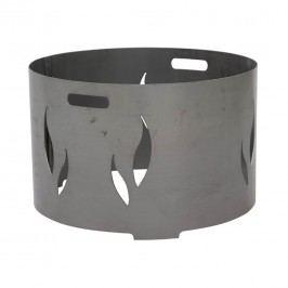 Siena Garden Feuerschalenaufsatz 98x98x40cm Stahl Silber/Anthrazit