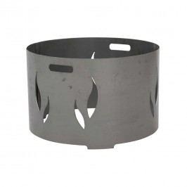 Siena Garden Feuerschalenaufsatz 82,5x82,5x34cm Stahl Silber/Anthrazit