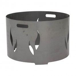 Siena Garden Feuerschalenaufsatz 73x73x34cm Stahl Silber/Anthrazit