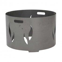 Siena Garden Feuerschalenaufsatz 53x53x34cm Stahl Silber/Anthrazit