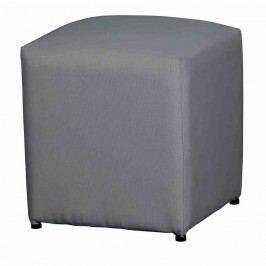 Life Breeze Pouf, Allwetter-Bezug 46x46x50cm Aluminium Carbongrau
