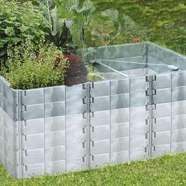 Juwel Hochbeet-Aufbausatz 121x190x26cm Kunststoff Basalt