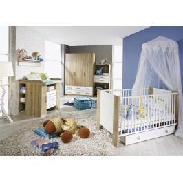 Babyzimmer Alpinweiss/ Eiche Sonoma Rauch Packs Samira Holz Modern