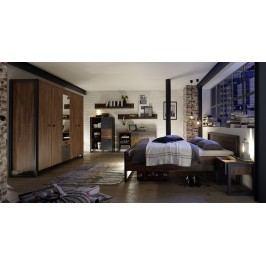 Schlafzimmer Mit Bett In 180 X 200 Cm Stirling Oak/ Matera Imv Detroit Eiche Holz Modern