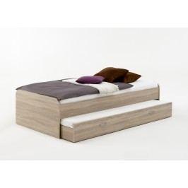 Bett 90 X 200 Cm Mit Gästeliege Eiche Fmd Pedro 4 Holz Modern